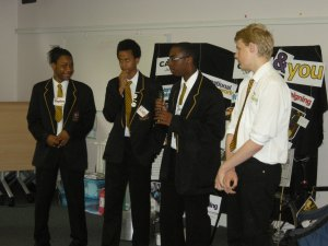 Students from St Bonaventure's School, Forest Gate