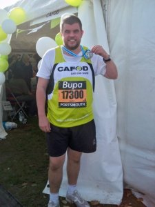 Andy completes the Great South Run