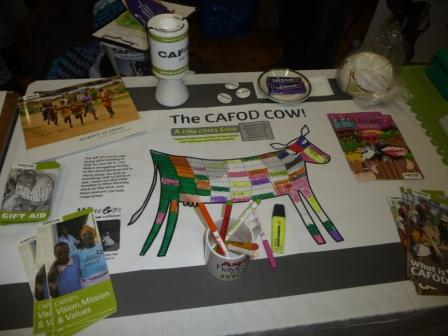 The CAFOD cow on it's way to completion