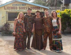 Carmel, Pete, Denise, Joe and Iona in Sierra Leone