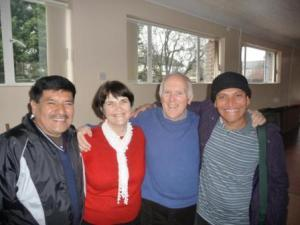 Erasmo (L) with Eileen and Peter Webster and Fidel, Blessed Sacrament