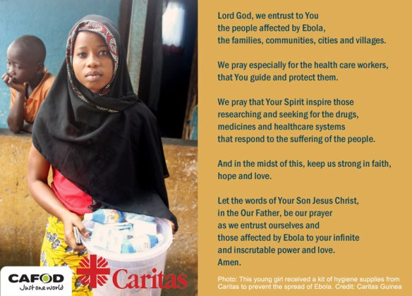 Ebola prayer card