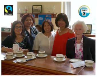 Members of the 10am Mass Fairtrade tea team at St Thomas of Canterbury in South Woodford